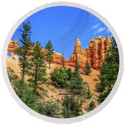 Round Beach Towel featuring the photograph Hoodoo Heaven by Dawn Richards