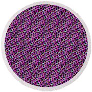 Round Beach Towel featuring the digital art Hoops And Loops by Bee-Bee Deigner