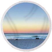 Horizon Over Water Round Beach Towel