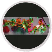 Horn Section Round Beach Towel