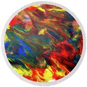 Hot Colors Coolling Round Beach Towel