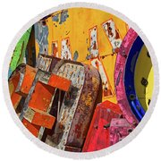 Round Beach Towel featuring the photograph Hot Mess by Skip Hunt