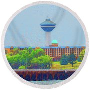 Hotel And Restaurant In Florence Alabama Round Beach Towel