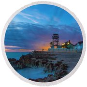 House Of Refuge Morning Round Beach Towel