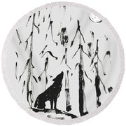 Howl #2 Round Beach Towel