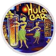 Hula Bar Round Beach Towel