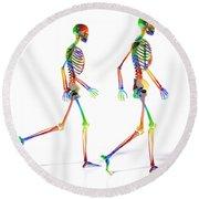 Human Skeleton Pair Round Beach Towel
