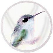 Hummingbird Series 2019 #1 Round Beach Towel