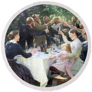 Hurray, Artist Party At Skagen - Digital Remastered Edition Round Beach Towel