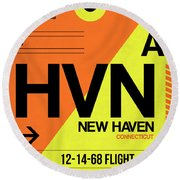 Hvn New Haven Luggage Tag I Round Beach Towel