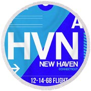 Hvn New Haven Luggage Tag II Round Beach Towel