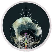 Round Beach Towel featuring the digital art I Am by Bee-Bee Deigner