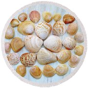 I Wish To See Seashells Round Beach Towel