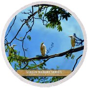 Ibis Perch - Virgin Nature Series Round Beach Towel