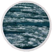 Ice Cold With Filter Round Beach Towel