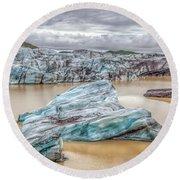Iceberg Of Iceland Round Beach Towel