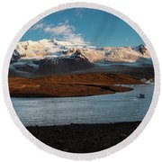 Iceland Panorama Round Beach Towel