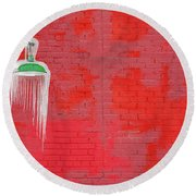 Icicle Melts Round Beach Towel