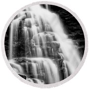 Round Beach Towel featuring the photograph Icing by Russell Pugh