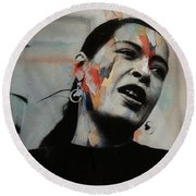 I'll Be Seeing You - Billie Holiday  Round Beach Towel