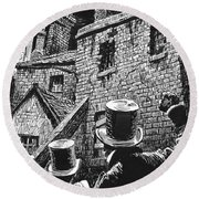 Illustration For Oliver Twist By Charles Dickens  Round Beach Towel