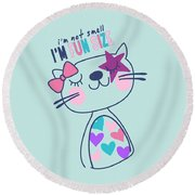 I'm Not Small, I'm Fun Size - Baby Room Nursery Art Poster Prin Round Beach Towel