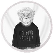 I'm Your Father Round Beach Towel