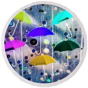 Imagination Raining Wild Round Beach Towel