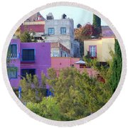 Round Beach Towel featuring the photograph Imagine This by Rosanne Licciardi