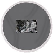 Immersed And Flawed By Cash Flow Round Beach Towel