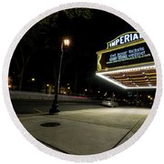 Imperial Theatre Augusta Ga Round Beach Towel