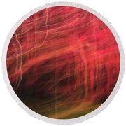 In Depth Of A Forest Round Beach Towel