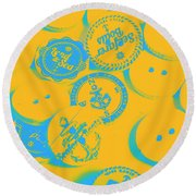 In Old Sailor Fashion Round Beach Towel