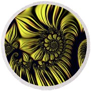 In Search Of Pillows Round Beach Towel