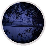 In The Darkness Round Beach Towel