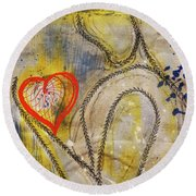 In The Golden Age Of Love And Lies Round Beach Towel