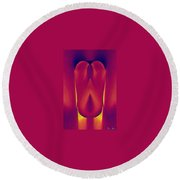 In The Heat Of Passion Round Beach Towel