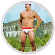 In The Land Round Beach Towel