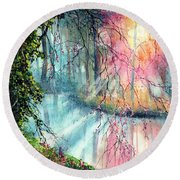 In The Nature Reserve Round Beach Towel