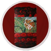 In The Scheme Of Things Round Beach Towel