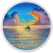 In To The Mystic Round Beach Towel