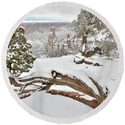 Independence Canyon Of Colorado National Monument Round Beach Towel