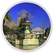 Round Beach Towel featuring the photograph Independence Park by Tony Murtagh