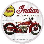 Indian 101 Scout - 1928  Round Beach Towel