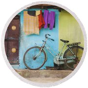 Indian Bicycle Round Beach Towel