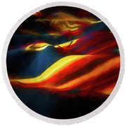 Round Beach Towel featuring the photograph Indian Blanket by Jon Burch Photography