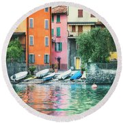 Indulge In Color Round Beach Towel