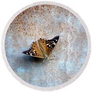 Industrious Butterfly Round Beach Towel