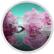 Infrared Bridge Round Beach Towel