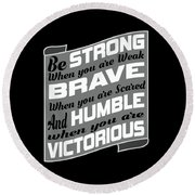 Inspirational Victorious Tee Design Humble Victorius Round Beach Towel